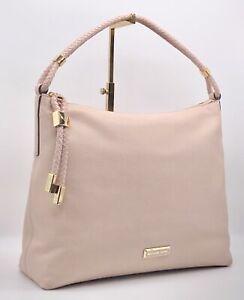 🌟NWT MICHAEL KORS Large Lexington Braided Hobo/Shoulder Bag SOFT PINK Leather