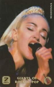 Telefoonkaart / Phonecard ongebruikt prepaid - Madonna (R46)