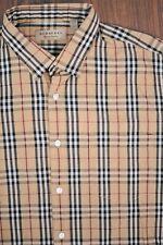 Burberry Nova Plaid LS Button Front Shirt Men's Large L