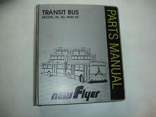 New Flyer D60 Factory PARTS MANUAL CATALOG Transit Coach Bus Service Shop OEM
