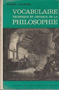 A.Lalande / Vocabulaire technique et critique de la philosophie