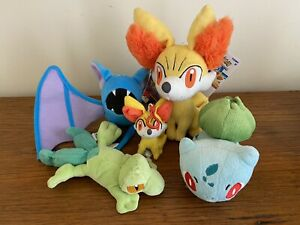 Pokemon Plush Bundle - Small - Fennekin, Zubat, Treeko And More!
