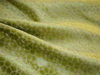 "One Yd ARCHITEX CUT VELVET Positano Green Apple UPHOLSTERY FABRIC 55"" x 36"" BTY"