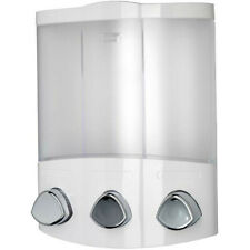 Triple Soap Dispenser Shampoo Shower Gel Conditioner Bathroom Pump Croydex Euro