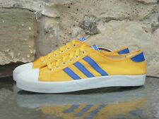 Vintage 1970s Adidas Adria UK11 Made In Taiwan Yellow Blue OG 70s Rare Malmo CW