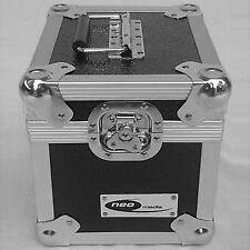 """1 7"""" registros de aluminio NEO X DJ Negro de almacenamiento para 100 Vinilo Lp estuche de vuelo"""