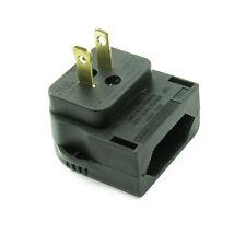 2 Pin Euro Plug to 2 Pin USA Mains Converter Adapter 3A- BLACK