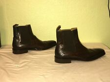 Magnanni Seleccion Wingtip Side Zip Chelsea Boot - Brown - Size 10.5 M