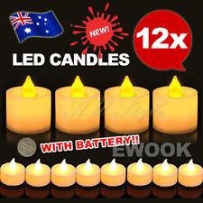 OZ Candles LED Tea Light Battery Electric Flickering Flameless Decor Wedding 12x