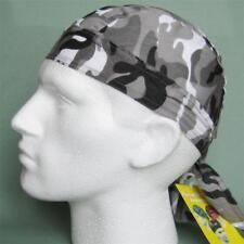 Bandana Grey Camouflage, camo zandanna do du doo rag wrap sun hat head wrap new