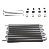 "3/8"" 6 Row Radiator Remote Aluminum Transmission Oil Cooler +  Mounting Kit"