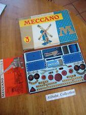 MECCANO ANCIEN BOITE 3 série M années 1960, troisieme no lot