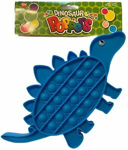 8''-10'' Cute Blue Dinosaur Bubble POPPER you cant stop popping Fun Fidget Toy