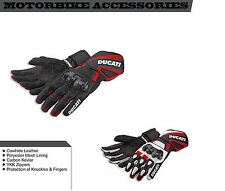 Ducati Motorbike Racing Leather Gloves All Size Available For Men's & Women's