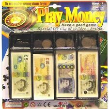 Kids Play Money Toy Till Set Coin Notes Pounds Penny Children Pretend Play Cash