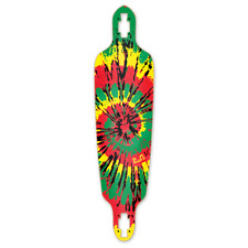 Yocaher Drop Through Tiedye Rasta Longboard Deck