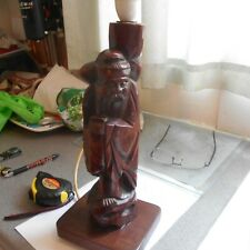"30s chinese, wooden lamp stand, 13"" high, without bulb holder"