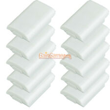 10X Battery Pack Cover Shell Case Kit for Xbox 360 Controller White US