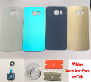 Samsung Galaxy S6 S6 Edge S6 Plus Back Glass Battery Replacement Case Lens