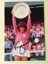 """tennis virginia wade signed 6"""" x 4"""" photograph"""