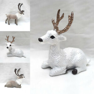 Plastic Reindeer Decoration Ornament Christmas Tree Xmas Party Home Table Decor