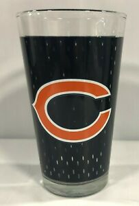 CHICAGO BEARS 16 OZ TEAM LOGO JERSEY PRINT PINT GLASS FROM HUNTER