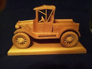 Hand Crafted 1919 Ford Model T Hard Wood Collectiable  Best Quality Materials