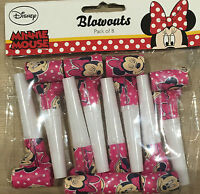 8x Disney Minnie Mouse Party Blow Out Party Flavors Blower Girls' Party Pink