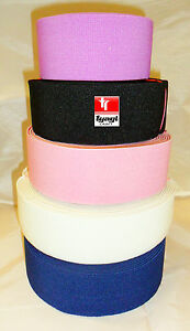 """2"""" 50mm Nurses Stiff Elastic for Belts Anti Roll VARIOUS COLOURS AND LENGTHS"""