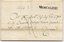 P7315   Prefilatelica, Torino, Moncalieri, lineare maiuscolo 1844