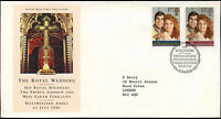 GB FDC 1986  Royal Wedding, Bureau H/S #C23184