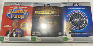 DVD GAME Pack Family Feud, Deal or No Deal, Who Wants to Be a Millionaire NEW