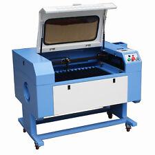 60W CO2 Laser Cutting Engraving Machine 700 x 500mm Chiller USB High Precision