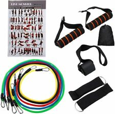 11-Piece Resistance Bands Set Elastic Work Out Band Kit for Home Fitness