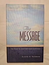 The Message Bible: New Testament w/Psalms & Proverbs Eugene H. Peterson 2005