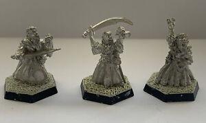 GW Citadel classic 80s AD&D TSR ADD9 Druids  Set Of 3 , Metal Oop , Un-painted