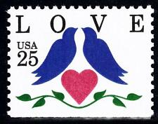 Scott #2441 25-Cent Love Birds Booklet Single - MNH