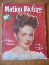 MOTION PICTURE apr. 1948 Jeanne Crain, Veronika Lake, Marguerite Chapman