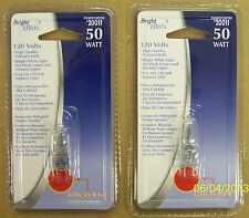 2 50-Watt GY6.35 Halogen BI-PIN Light Bulbs GY 6.35 NEW