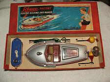 Schuco 5411 Boat Elektro-Delfino 5411, & Original Box, Made In Us-Zone Germany