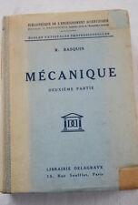 MECANIQUE RESISTANCE CINEMATIQUE-BASQUIN-DELAGRAVE-1942-ILLUSTRE