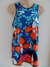 PETER PILOTTO Target racer back red IRIS TANK TOP S Small UK 10 12 EU 36 38