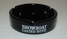 Vintage Showboat Casino Hotel Ashtray Las Vegas Nevada - GROOVED Base Variation