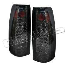 88-98 Chevy Suburban Tahoe LED Rear Tail Lights Lamp New Left+Right Set Smoke