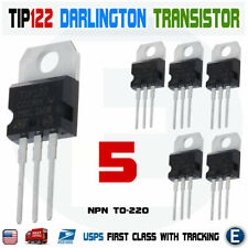 5pcs TIP122 NPN Transistor Darlington Complementary 100V 5A Amplifier TO-220