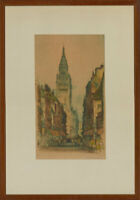Edward Sharland - Set of Two Mid 20th Century Etching, Dunkirk Street Scene