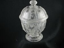 1860S EAPG FLINT GLASS CABLE COVERED SUGAR