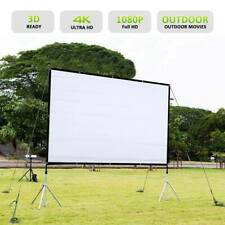 """120"""" Foldable Portable Projector Screen 16:9 Rear Front Projection Home Theater"""