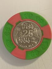POP'S OASIS $25 Casino Chip JEAN NV 3.99 Shipping