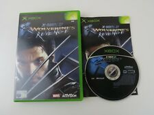 Xbox Original Pal Game X-MEN 2 WOLVERINES REVENGE with Box Instructions
